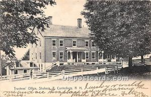 Trustees' Office Shakers, East Canterbury New Hampshire, NH, USA 1906