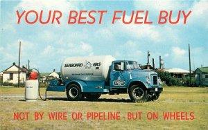 Gas Advertising Seaboard Company 1950s Propane Postcard 20-5495