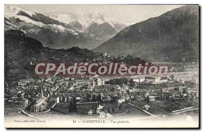 Postcard Old Albertville Vue Generale