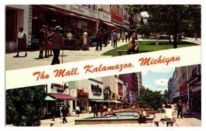 The Mall, Kalamazoo, MI Postcard *6S4