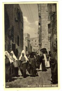 In A Bethlehem Street, Bethlehem, Palestine, 1910-1920s