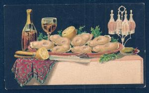 VICTORIAN TRADE CARD Table Full of Food