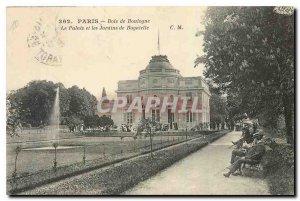 Old Postcard Paris Bois de Boulogne and Palais de Bagatelle Gardens