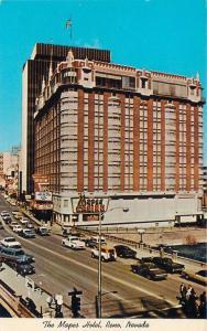 RENO, NV Nevada     The  MAPES HOTEL, CASINO  Street Scene   c1960s   Postcard