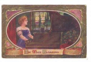 AS: In The Glooming, Woman looking out the window while playing piano, PU-1912