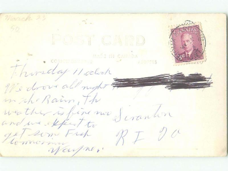 1940's rppc BABY DEER Lake Of The Woods - Kenora Ontario ON W0927