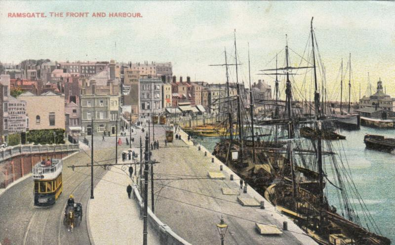 RAMSGATE , England, UK , 1900-10s; The Front and Harbour, TUCK # 4768