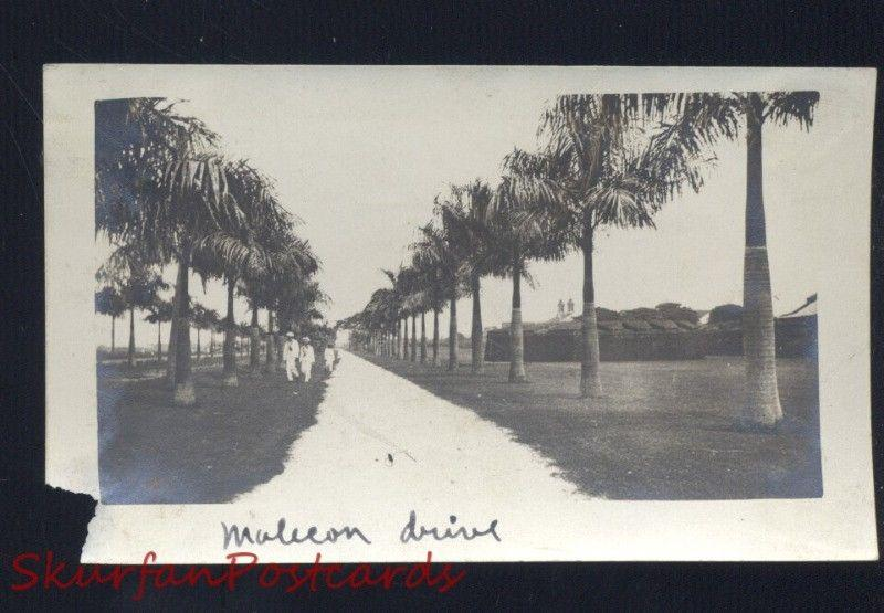 MANILA PHILIPPINES MALECON DRIVE VINTAGE WWI ERA REAL PHOTO PHOTOGRAPH