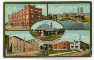 Industries of Belleville Ontario Canada 1910c postcard