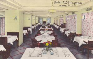 Interior View of Dining Room, Hotel Wellington, Howard St., Albany, New York ...