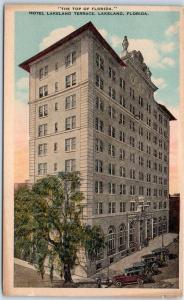 Lakeland, Florida Postcard HOTEL LAKELAND TERRACE The Top of Florida c1930s