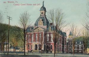 WARREN, Pennsylvania, PU-1909; County Court House and Jail