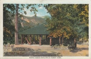 FOREST HOME, California, 1925; Rustic Dance Pavilion at Forest Home