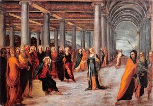 Roma Jacopo Tintoretto Cristo e l'Adultera (Galleria Nazionale)