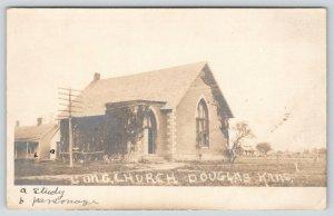 Douglas KS~Congregational Church~Study & Parsonage~Bottom Tower Half~RPPC 1907