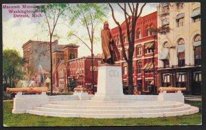 Macomb Monument Washington Boulevard Detroit Michigan Used c1911