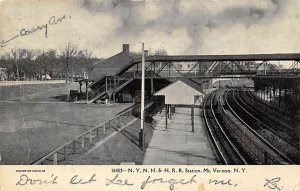 N Y, N H & H R R Station Mt. Vernon, NY, USA Railroad Related 1911