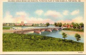 Indiana Fort Wayne Columbia Avenue Bridge and Municipal Filtration Plant At T...