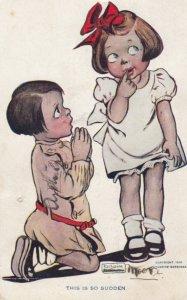 ARTIST SIGNED, KATHARINE GASSAWAY, 1900-1910's; Little Boy Proposing To Littl...