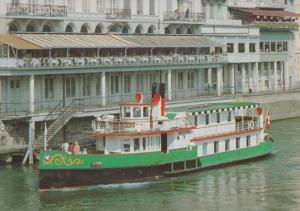 MS Baslerdybli Swiss Paddle Steamer Ship Postcard