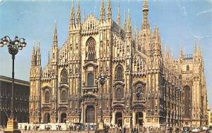 Italy Old Vintage Antique Post Card The Cathedral Milan Unused