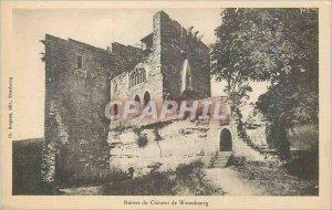 Postcard Ancient Ruins Chateau de Wasenbourg