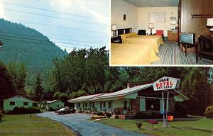 Maggie Valley North Carolina Adair Motel Multiview Vintage Postcard K45978