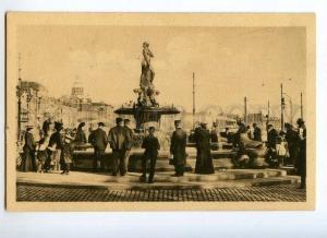 247114 FINLAND HELSINKI Vallgren fontain Vintage postcard