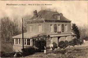 CPA MOULINEAUX pres ROUEN-Hotel de la Gare et du Monument (349300)