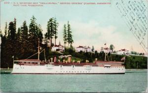 US Ship 'Philadelphia' Bremerton Navy Yards WA Washington c1908 Postcard E49