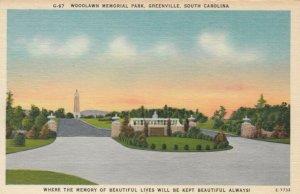 GREENVILLE , South Carolina , 30-40s; Woodlawn Memorial Park