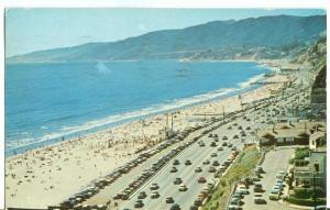 Looking north along the coast highway, Santa Monica Postcard