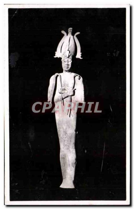 Old Postcard The god Osiris stucque wood and painted Ptolemaic Egypt Egypt