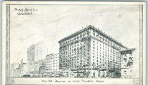 Cleveland, Ohio Postcard HOTEL STATLER Euclid Avenue at East 12th Street 1930s