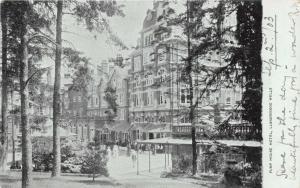 LLANDRINDOD WELLS POWYS WALES UK PUMP HOUSE HOTEL POSTCARD 1903