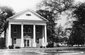 Corners South Carolina Court House Exterior Real Photo Antique Postcard K25686