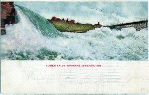 Spokane WA - LOWER FALLS... first dam built on the Spokane River 1900S