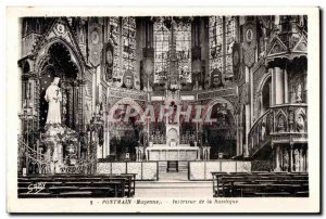 Old Postcard Pontmain mayonnaise inside the basilica