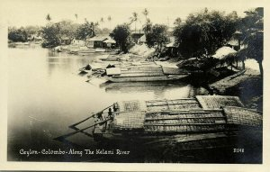 ceylon, COLOMBO, Kelani River (1920s) Canadian Pacific Cruise RPPC Postcard