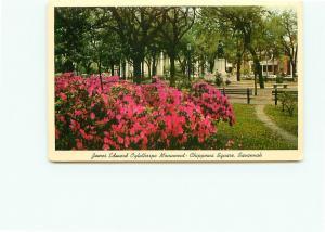 Postcard Georgia Savannah Chippewa Square James Edward Oglethorpe Monume # 4368A