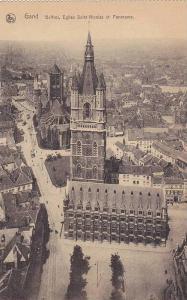 Gand, Belfrol, Eglise Saint Nicolas et Panorama, East Flanders, Belgium, 00-10s