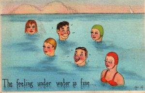 11113 Risque Beach Bathing Card
