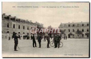 Chateauroux Old Postcard Court of the 9th district squads train