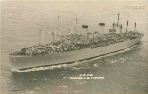 Military, US Navy Ship, General E.D Patrick, RPPC