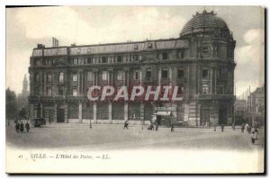 Old Postcard Lille Hotel des Postes the Colossus of Rhodes