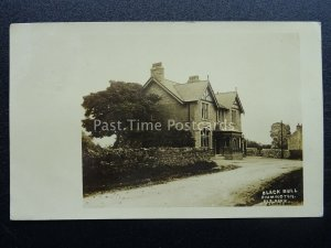 Lancashire Clitheroe Rimington THE BLACK BULL INN c1917 RP Postcard by E. Buck