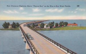 Florida New Overseas Highway Above Pigeon Key On Way To Key West