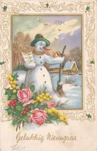 New Year Gelukkig Nieuwjaar With Snowman