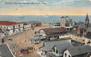 G43/ Oak Bluffs Massachusetts Postcard 1918 East End Circuit Avenue Bowling