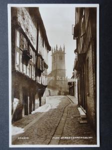 Shropshire SHREWSBURY Fish Street c1927 RP by Valentine 204310